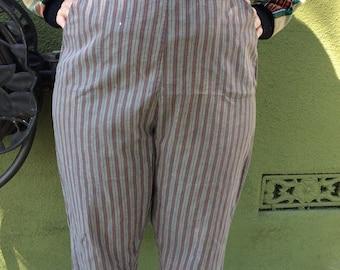 Vintage 1950s JD bad girl striped capris plus size rare find it hard to find VLV