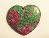 Large gemstone heart Ruby in Fuchsite