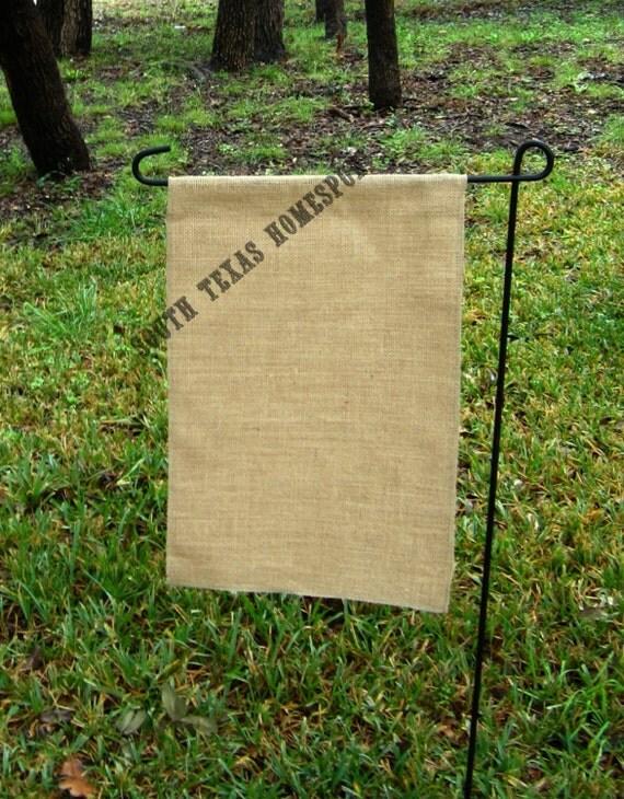 Natural Burlap Garden Flag 12 X 18 Single Or