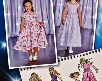 Confirmation Dress Pattern, Flower Girl Dress, Sunday Dress, Girls' Project Runway Dresss, Sz 3 to 8, Simplicity Sewing Pattern 1173