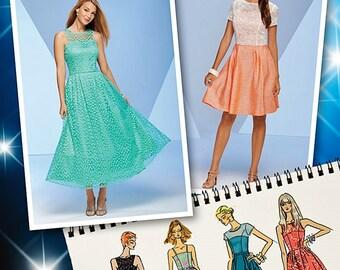 Project Runway Dress Pattern, Tea Length Dress Pattern, Simplicity Sewing Pattern 1415