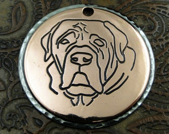 English Mastiff Custom Dog Tag, ID Dog Tag, Pet Tag, Keychain Fob or Pendant