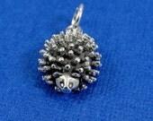 Hedgehog Charm - Sterling Silver Hedgehog Charm for Necklace or Bracelet