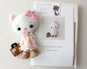 Marshmallow Kitten Pattern Kit