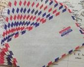 Set of (10) Airmail Envelopes