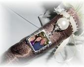 DIY - Bouquet Charm - Silver Photo Charm Pearl- FREE SHIPPING