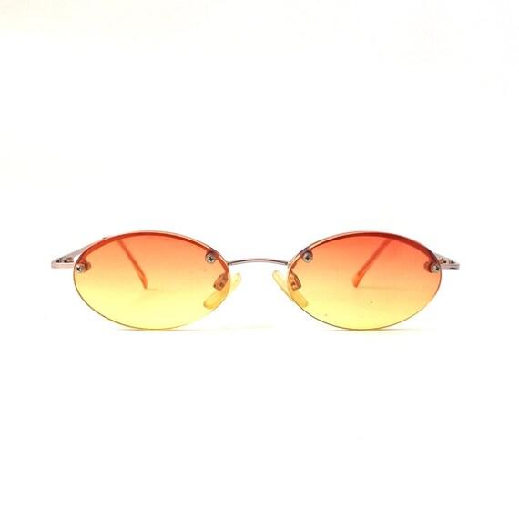 a4be9870e7 Small Round Sunglasses Orange Lens