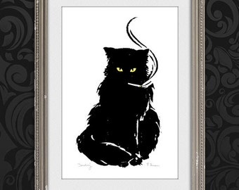 Print your Own! Smokey the Cat (Color version)