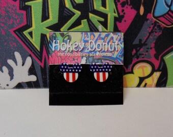 Mickey Mouse Patriotic Stud Earrings