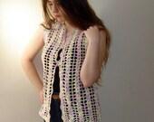 50% discount Crochet vest, womens clothing lace top