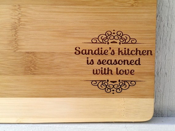 Personalized Seasoned with Love Cutting Board Like this item