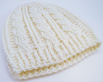 Crochet Hat, Crochet Beanie, Cable Stitch Hat, Cable Stich Beanie, Winter Accessories, Crochet Winter Hat, Hat Accessories, Ready to Ship