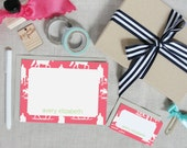Personalized Boxed Stationery Set | Equestrian Chinoiserie | Horse Gift | Custom Colors