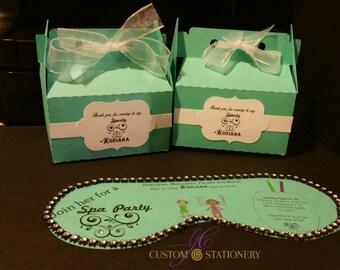 Designer Inspired favor boxes ONLY (5)