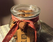 Wish Upon A Star Christmas Ginger Jar Gingerbread cookies in a beautifully decorated jar