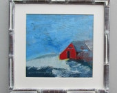 wall art - House Goes Red - original acrylic painting - home decor