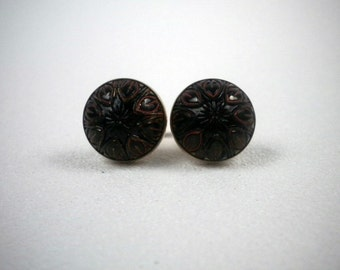 Vintage Men's Destino Red and Black Cuff Links