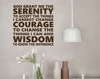 Subway Serenity Prayer, Vinyl Wall Lettering, Vinyl Wall Decals, Vinyl Letters, Vinyl Lettering, Wall Quotes, Christian Decals