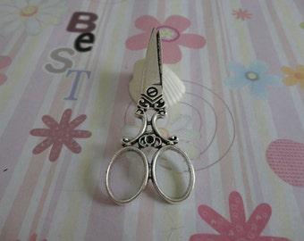 10pcs antique silver scissors findings 60x25mm