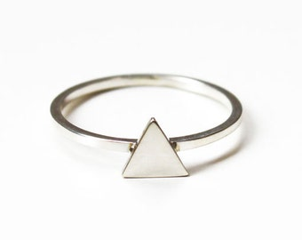 Tiny Triangle ring (sterling silver)