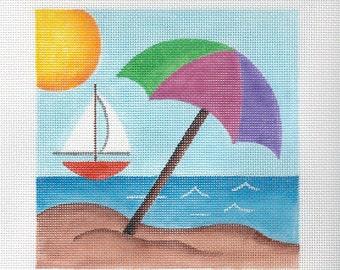 "Beach Needlepoint 6""x 6"" Square - Jody Designs"