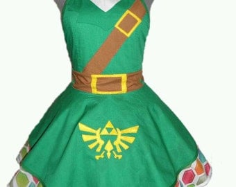 Link From The Legend of Zelda Retro Apron
