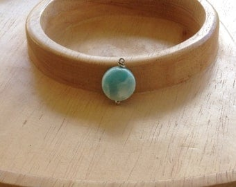 Larimar pendant (chain not included) simple clean minimalist jewelry