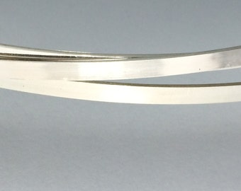 1 ft - sterling silver 2mm x 1mm flat rectangle wire stock, great for wide band rings, dead soft wire