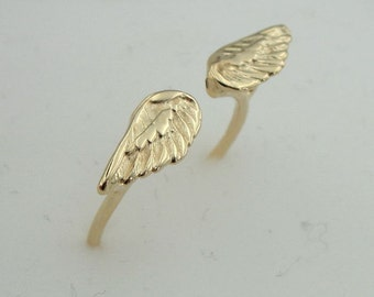 Angel Gold Ring, Gold filled Ring, Adjustable Ring, 14k Gold Filled Ring , Delicate Ring, Birthday Gift, Gift For Her, Bridal Jewelry, Free