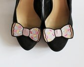 Donut Bow Shoe Clips, Junk Food Accessories- Black FRiday Cyber Monday