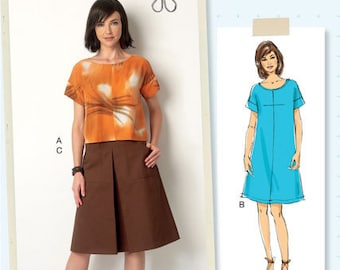 B6182 ~ LISETTE for Butterick ~  Top, Dress and Skirt ~ Multi-Size Sewing Pattern