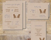 Barn Wedding Invitations, Recycled Wedding Invitations, Rustic Wedding Invitations, Rocking Chair Invitations - Grow Old WIth Me