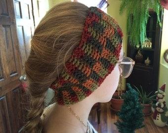 Multi Color Crochet Ear Warmer Head Band