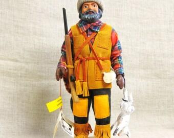 Male Portrait , Male Figure , Doll , Art Doll , Canadian , Souvenir , Canada , Hunter , Trapper , Yukon Territory , Figurine , Male Doll