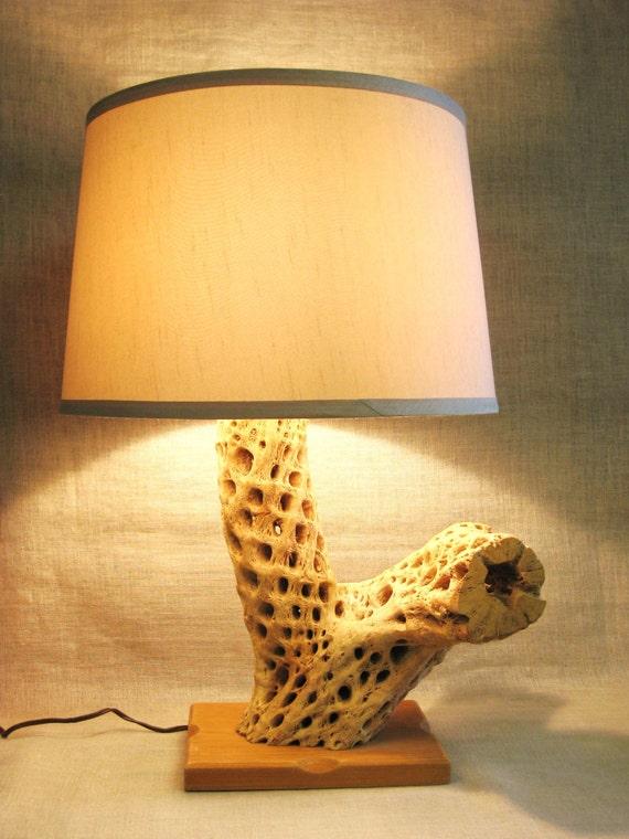 Tischleuchte rustikale leuchte kaktus holz lampe von wilshepherd