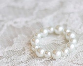 Newborn Pearl Bracelet. Child Bracelet. Baby Bracelet. Bead. Ivory. Newborn. Toddler. Photography Prop. Newborn Prop. Tolola Design.