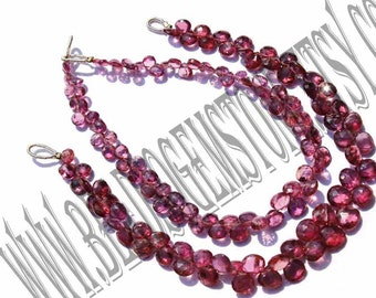Garnet Faceted Heart (Quality AA) / 18 cm / 6 to 8 Grms / 4 to 6 mm / BOG - 084