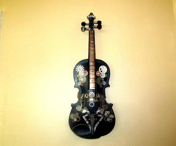 Industrial Steampunk Wall Art Wall Hanging Violin Wall Decor