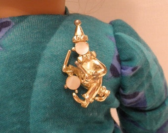 Clown Broach Pin for You or Your Doll