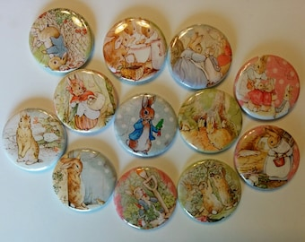 "Lot of  12 easter  1"" or 1.25""  buttons pinback flatback hollowback or magnet you choose"
