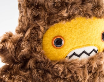 Woolly Sasquatch Plush...caramel & deep yellow!