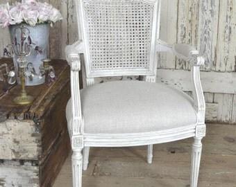 SALE Antique Louis XVI Cane Back Chair