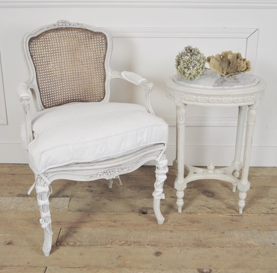 Antique French Cane Back Chair