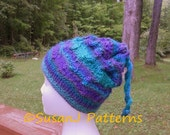 Knitting Pattern - Fiddler's Hat and Scarf - Size: Ladies - PDF Pattern