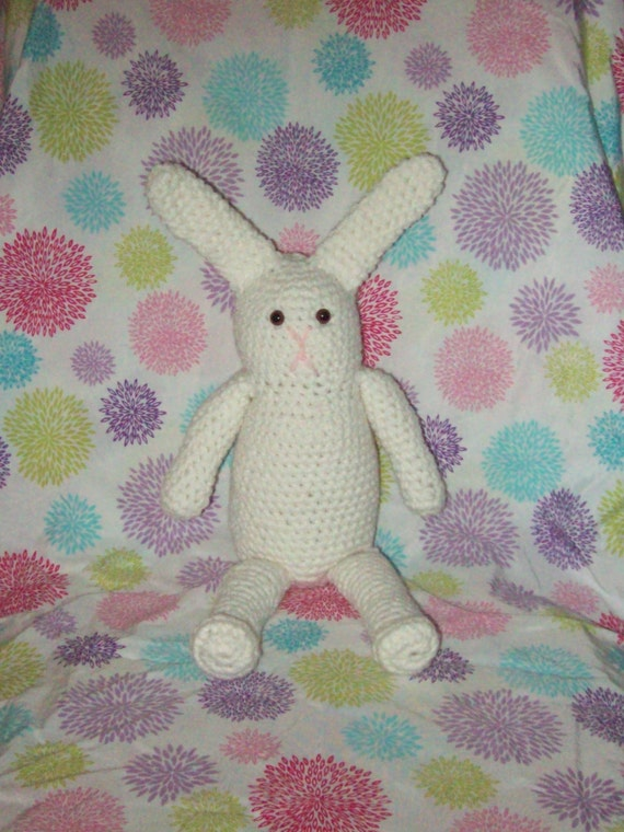 Bunny Rabbit  White Amigurumi Rabbit Easter Bunny