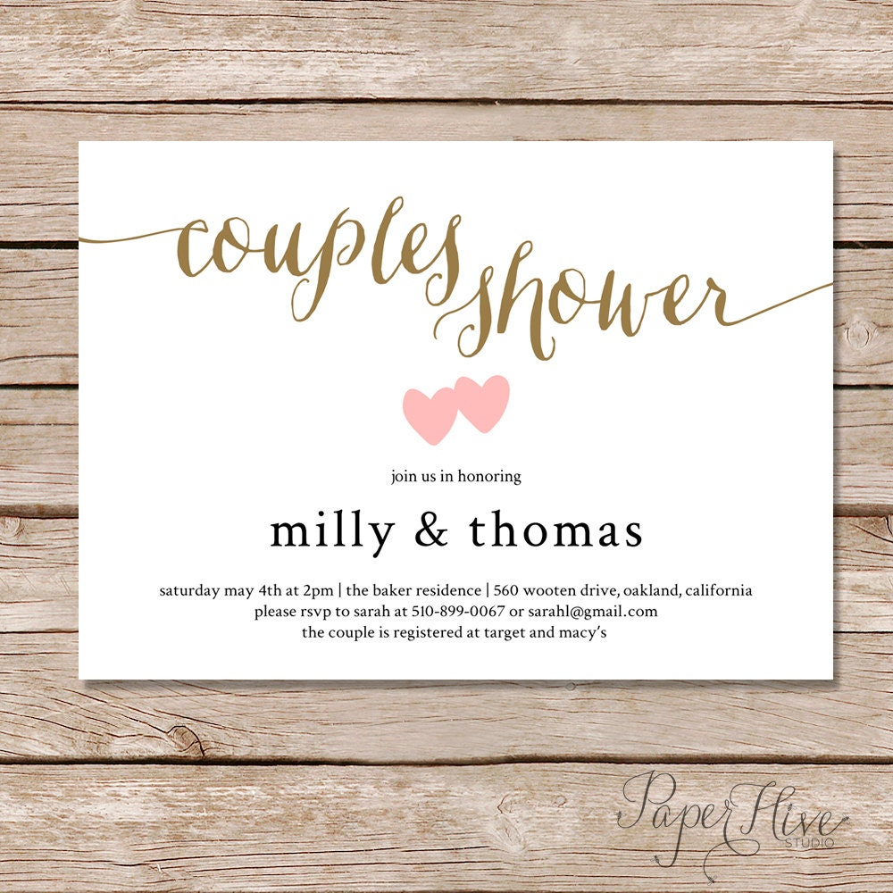 Couples Shower Invitation / Couples Wedding Shower Invite