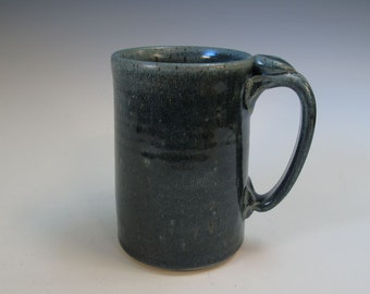 Large Blue Mug Stein - Beer Coffee Tea - Holds 17 ounces