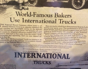 International Harvester Company truck ad circa 1926.