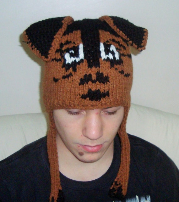 Airedale Terrier, Hand Knitted Hat, Animal Hat, Dog Hat, Adult