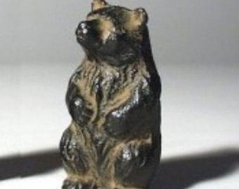 Vintage Japanese  Iron Brown Bear Paperweight